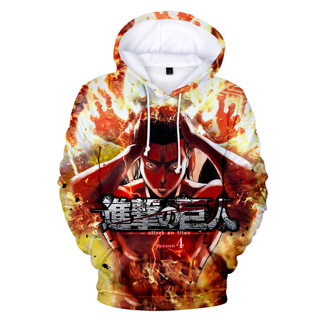 ATTACK ON TITAN THEMED 3D HOODIE