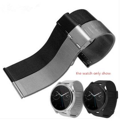 Rolamy 18 20 22 24mm Silver Black Rose Gold Ultra thin Mesh Milanese Loop Stainless Steel Bracelet Wrist Watch Band Strap Belt|Watchbands| - AliExpress