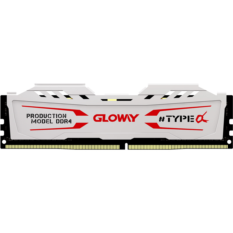 Gloway TYPE a series white heatsink <font><b>ram</b></font> <font><b>ddr4</b></font> <font><b>8gb</b></font> 16gb 2666mhz for desktop with high performance image