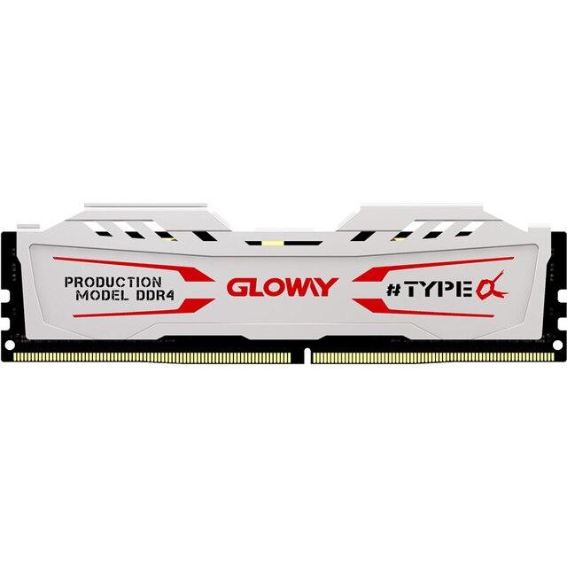 Hàng Mới Về Gloway LOẠI một loạt Trắng Tản nhiệt Ram DDR4 8GB 16GB 2400Mhz 2666MHz cho máy tính để bàn với hiệu suất cao
