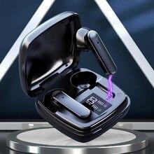 Fones de ouvido bluetooth 5.1 in-ear fone de ouvido controle de toque verdadeiro fones de ouvido sem fio à prova dhi-fi água hi-fi estéreo com microfone