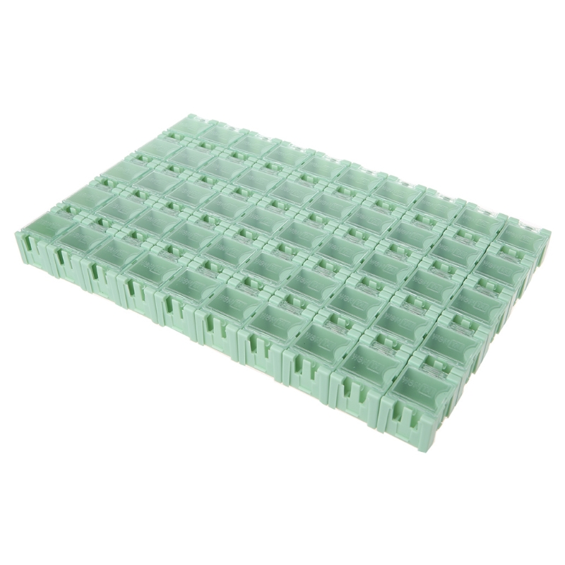 50 Pcs/Set SMD SMT Electronic Component Container Mini Storage Boxes Kit