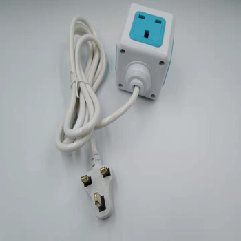 Smart Home PowerCube Socket UK Plug 4 Outlets Adapter Power Strip With 1.5m Cable Length image