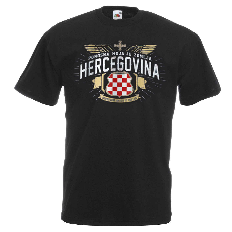 3d t shirt Hot Kurzarm männer Kleidung Sommer HERCEGOVINA Hrvatska BiH Croat KROATIEN Schwarz Majica T Neue