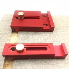 Righello di misurazione della profondità in lega di alluminio con scala linea di lavorazione del legno righello dente di sega righello marcatura strumento di misurazione del calibro