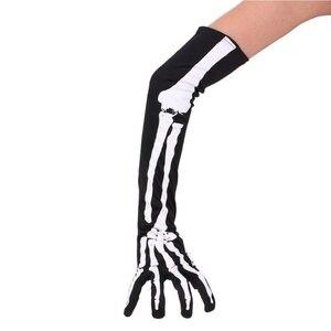 Halloween Gloves Horrible Skul