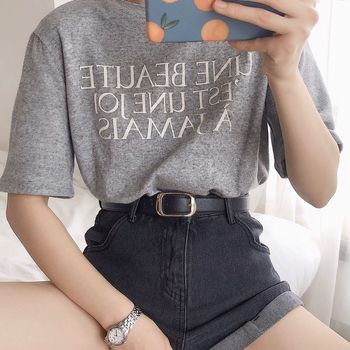 The new simple round buckle belt Korean version of the wild high-end PU pin buckle denim universal belt luxury female belt gg mr nt students fashion new rose hooded printing high end korean version of the wild college hoodie