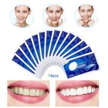 Полоски улучшенные эластичные для отбеливания зубов, гигиена полости рта, удаление пятен, двойное отбеливание, 28 шт./14 пар