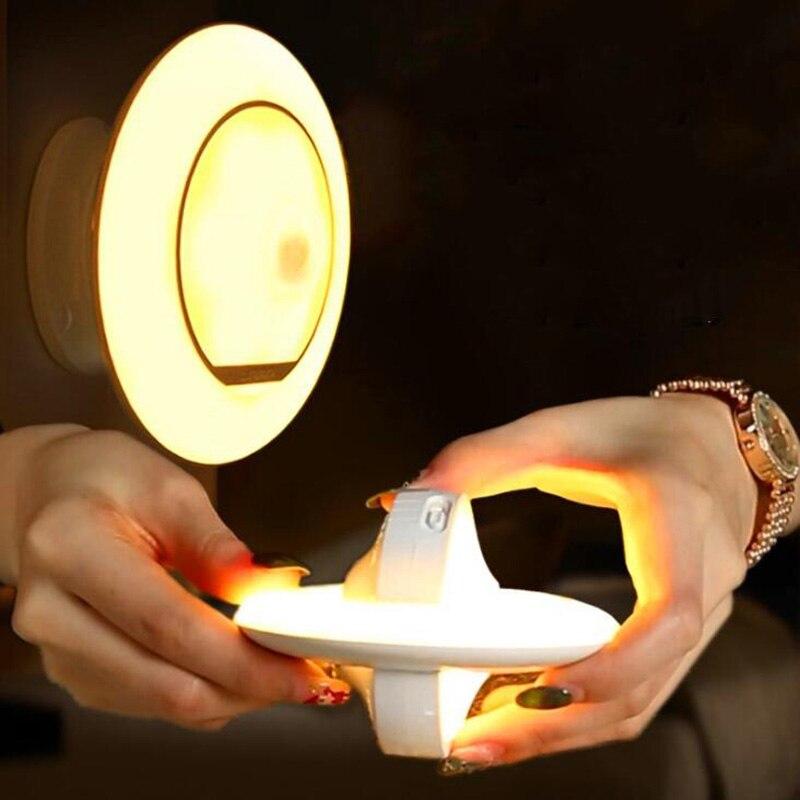 360° Rotating Motion Sensor Night Light USB Rechargeable LED Body Motion Sensor Lamp Security Wall Lamp Outdoor Sensor Light