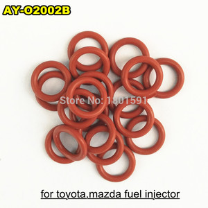 Image 2 - free shipping 200pieces fuel injector upper oring 7.8*1.9mm rubber seals for toyota mazda repair kits  ASNU17  (AY O2002B)