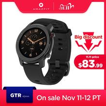In Lager Globale Version Neue Amazfit GTR 42mm Smart Uhr 5ATM frauen uhren 12 Tage Batterie Musik Steuerung für Android IOS