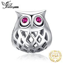 JewelryPalace 925 Sterling Silver Hollow Owl Beads Charms Original Fit Bracelet original Jewelry Making