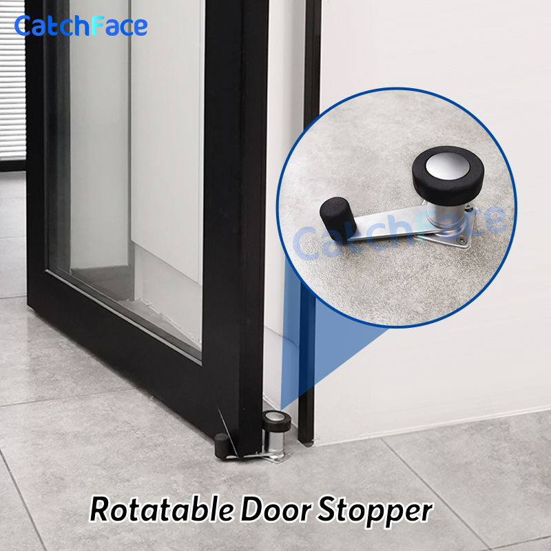 Smart Lock Accessory  Door Rotatable Lock Stainless Steel Door Stopper For Electronic Lock Door Protection For Home Security