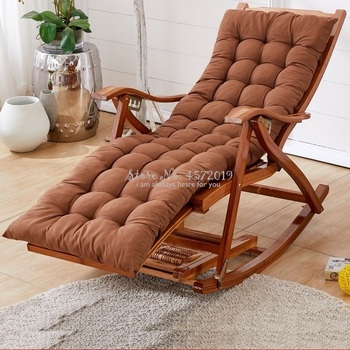Lazy Casual Wood Old Man Happy Chair Bamboo Rocking Chair Home Balcony Rocking Chair Recliner Adult Lunch Break Siesta