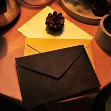 10 шт черный белый цвет крафт бумаги Бумага Бизнес конверты