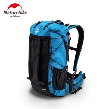 Naturehike plecak kempingowy rama aluminiowa torby wspinaczkowe 60L + 5L Ultralight plecaki turystyczne wodoodporna torba sportowa na zewnątrz NH19BP095 tanie i dobre opinie CN (pochodzenie) Unisex Camping Hiking Backpacking Rama zewnętrzna Other Black 60L+5L 40L+5L Tear Resistant 420D Nylon Fabric