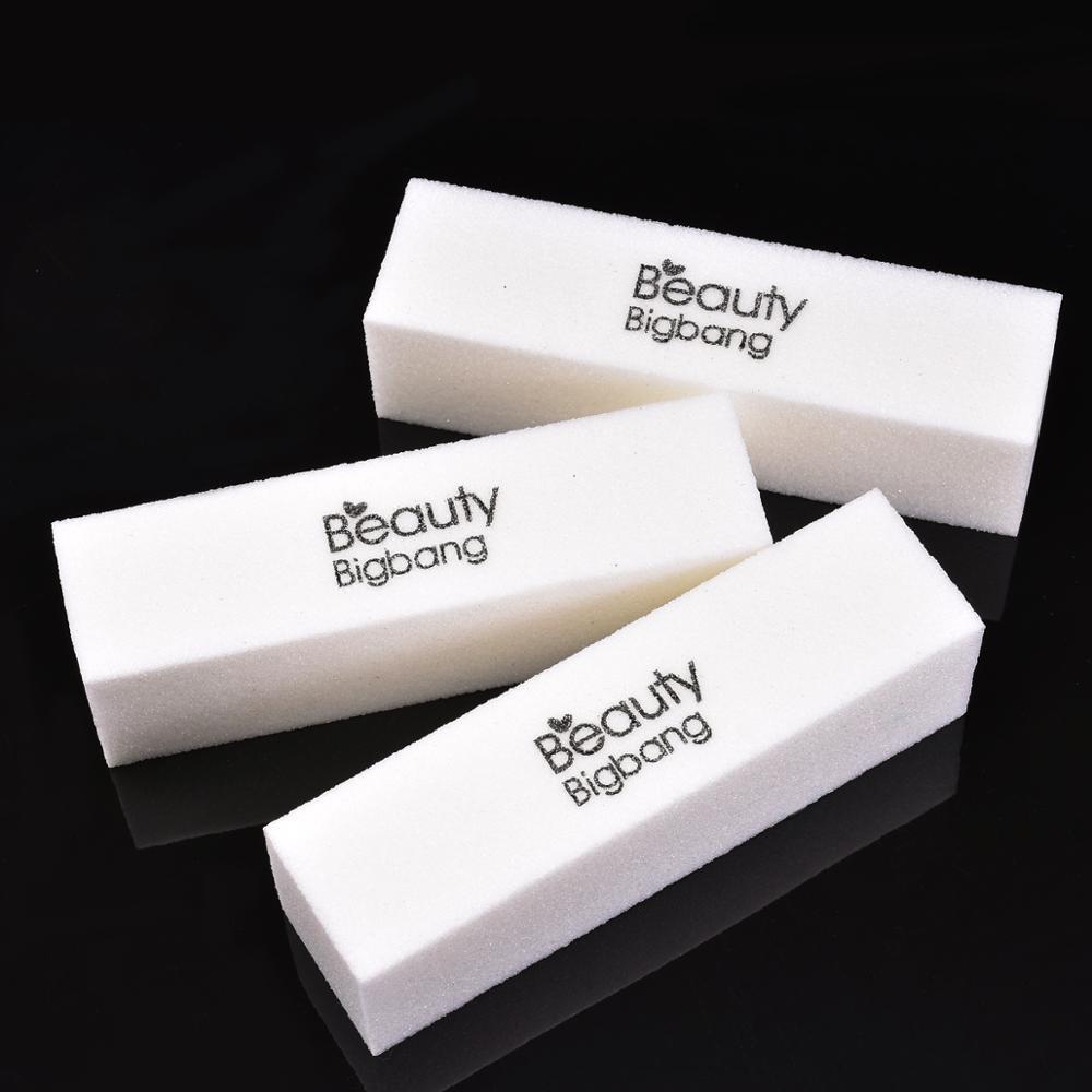 BeautyBigBang Sanding Sponge Nail File Buffer Block UV Gel Nail Polish Limas Nail Art Manicure 1 Piece White Nail Buffers File