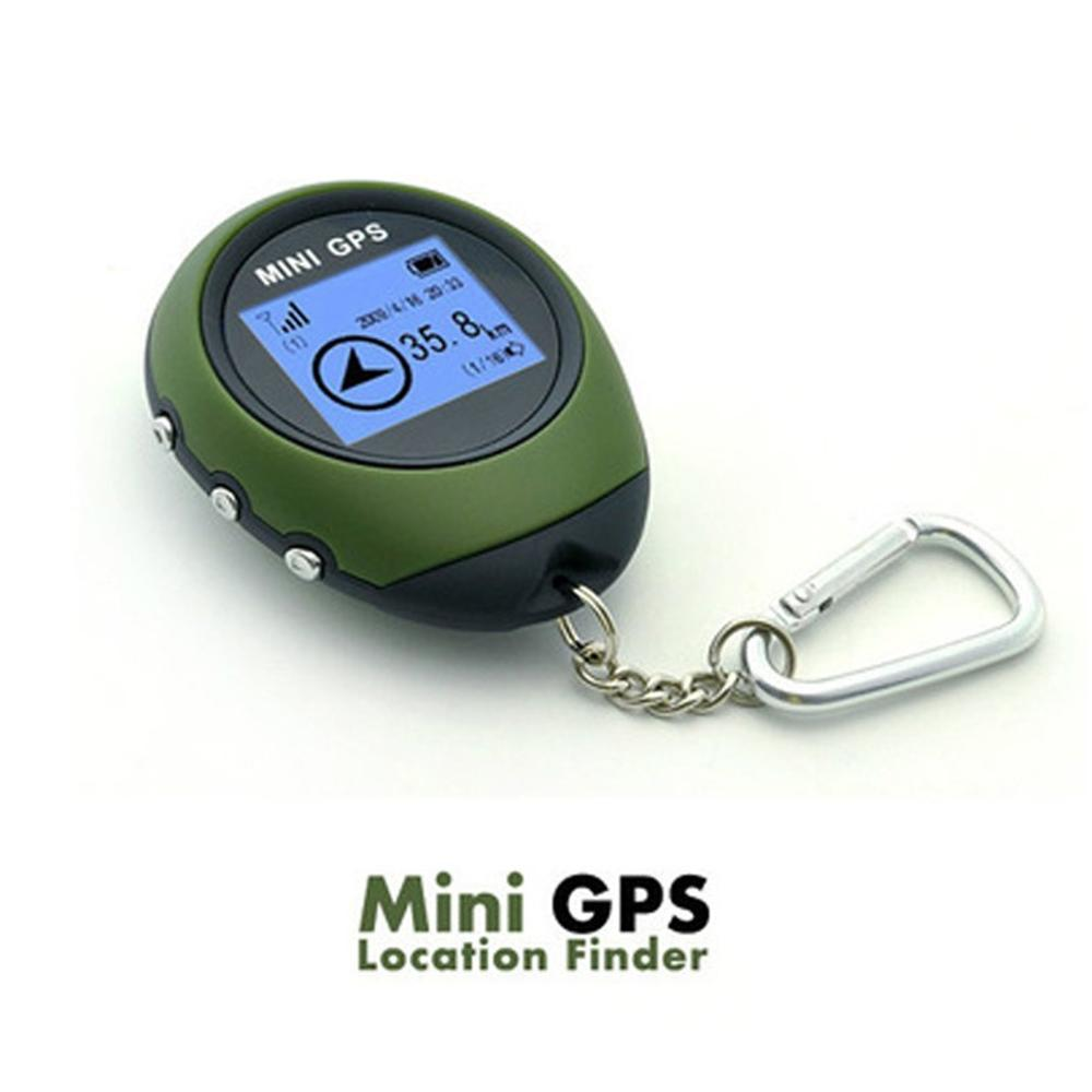 Mini GPS Tracker Tracking Device Travel Portable Keychain Locator Pathfinding Motorcycle Vehicle Sport Handheld Keychain
