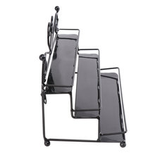 Metall Nagellack Veranstalter Halter Tisch Nagel Posh Dispaly Organisation Rack (Schwarz)