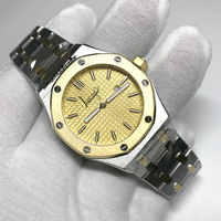 fashion QUARTZ watch sapphire glass 33mm women size 18K gold case yellow dial Royal ladies Watches A p style