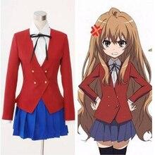 Disfraz de Cosplay del Anime japonés Dragon X, Tigre, Toradora, aiaka Taiga, uniforme escolar, talla grande