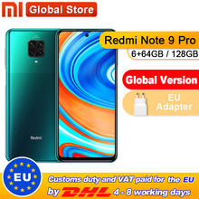 Version mondiale Redmi Note 9 Pro 6 go 64 go/6 go 128 go Smartphone NFC Snapdragon 720G Octa Core 64MP Quad caméra(China)