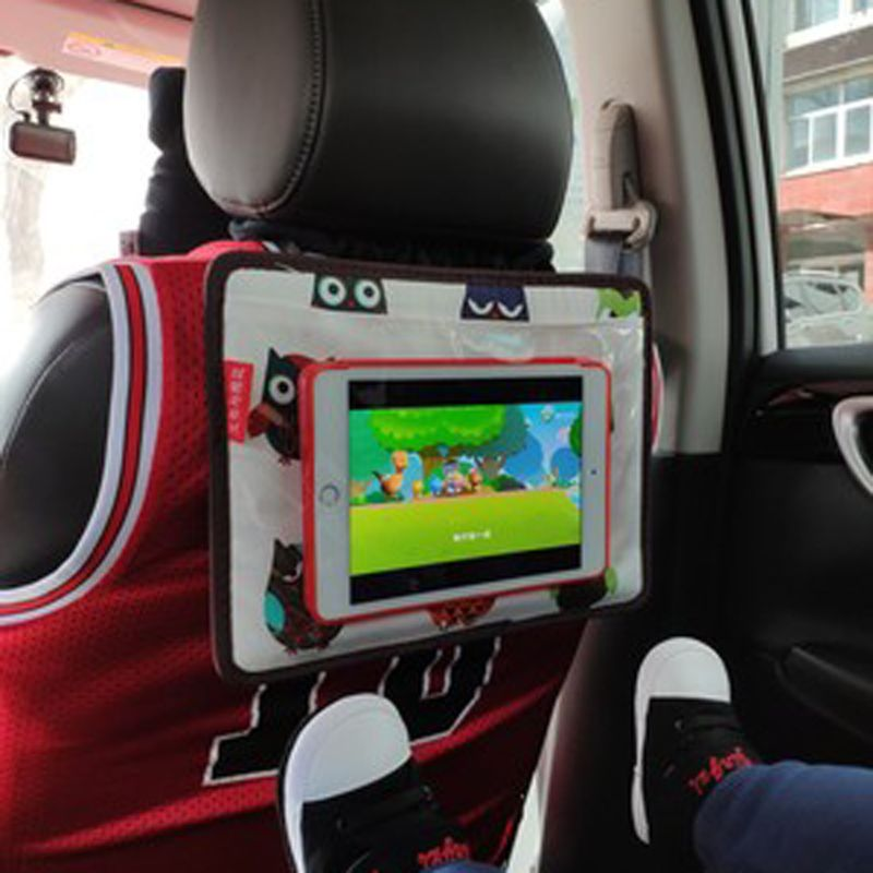Universal Universal Car Headrest Phone Mount Bag Holder For Kids In Back Seat Tablet Stand For Samsung Xiaomi 3-11.5 Inch Smart