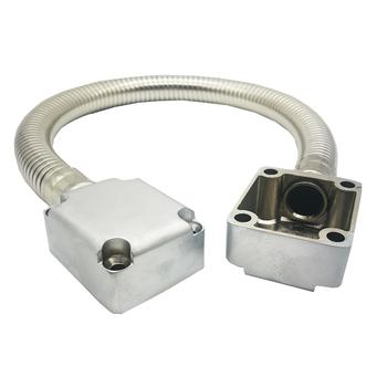 Pętla drzwiowa odsłonięta tuleja ochronna tuleja ochronna kabel kontroli dostępu stal nierdzewna ukryta linia drutu chroń opancerzoną metalową rurkę tanie i dobre opinie gzpzdp Door Loop Cable Protetive Loop 304 Stainless steel Zinc Alloy 10mm (appro ) 13mm (appro )