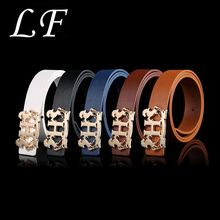 Trend Belt Wild Zinc Alloy Buckle Letter Double Horse H Smooth