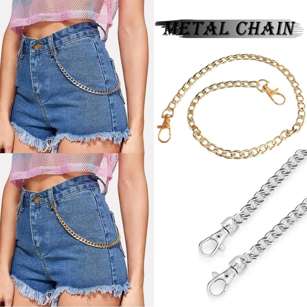 Женские панковские штаны с цепочкой, женские хип хоп брюки с кисточками, серебряная с золотом цепь для брюк, женские крутые металлические цепочки на джинсах # Z|Женские ремни|   | АлиЭкспресс
