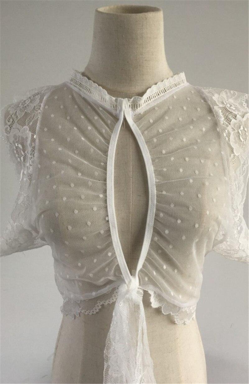AU Women's Sexy/Sissy See Through White Lace Bra