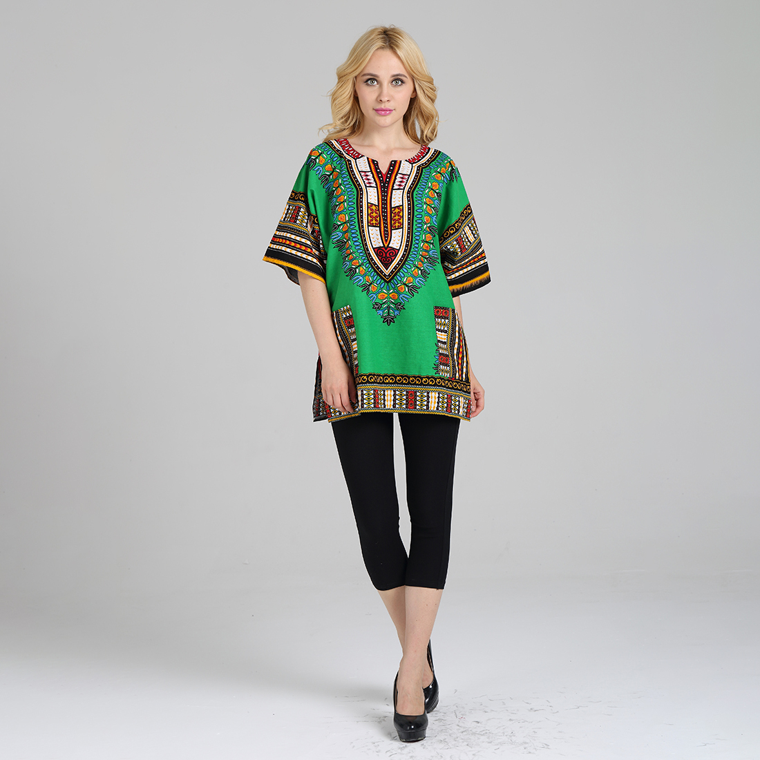 New Fashion Design African Traditional Printed Green 100 Cotton Dashiki T Shirts Africa Clothing Aliexpress