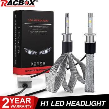 H1 bombilla de faro LED lámpara de coche globo cobre estilo de cinturón 100W 10000LM 12V 24V se adapta a Nuestra lente de proyector HID de 2,5 pulgadas
