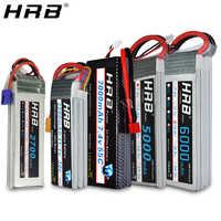 HRB Lipo batterie 2S 3S 4S 5000mah 6000mah 2600mah 2200mah 11.1V 7.4V 14.8V 6S 22.2V XT60 Deans T RC FPV avions voiture bateau pièces