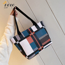 PU Leather Tote Bags Plaid Pattern Shoulder Bags For Women Handbags Large Capacity Shopping Bags Female Fashion Casual Totes Bag elviswords women large handbags shoulder bags creative dogs cat pattern high quality stylish for girls female large capacity new