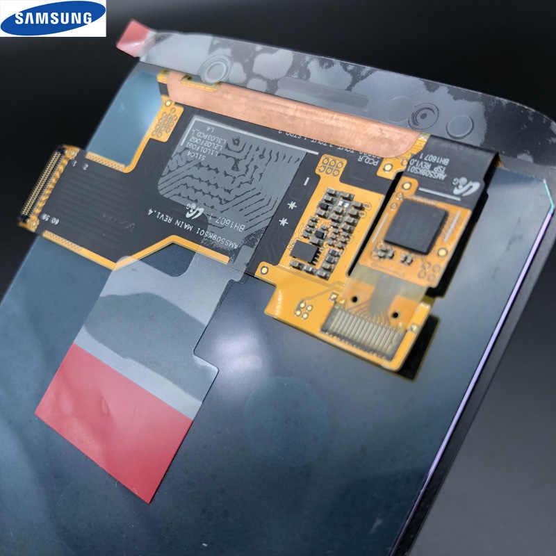 جديد الأصلي Amoled LCD عرض مع الإطار لسامسونج غالاكسي S7 G930 G930A G930F SM-G930F G930V LCD محول الأرقام شاشة تعمل باللمس