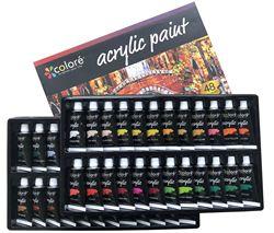 48 di colore 22ML Professionale Colori Acrilici Set Dipinta A Mano Della Parete di Disegno Pittura Pigmento Set Rifornimenti di Arte
