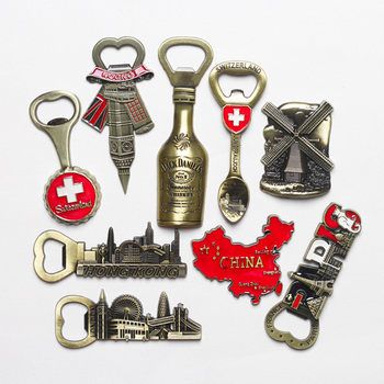 Tourist souvenir Switzerland Italy refrigerator magnet beer opener Europe Britain France Germany travel souvenir home decoration 1