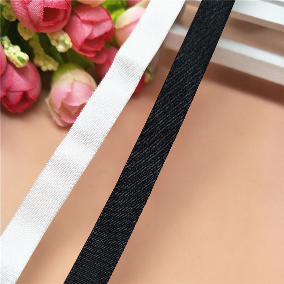 50 Yards 10mm Width Elastic Band For Underwear Bra Pants High Quality Double Face Garment Sewing Adjustable Elastic Strap