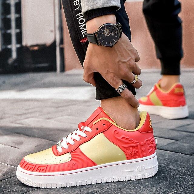 Zapatillas de deporte altas suaves, cómodas y transpirables, zapatos informales antideslizantes resistentes al desgaste para exteriores, nuevo estilo 3