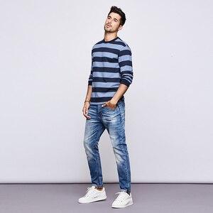 Image 3 - KUEGOU 2020 סתיו כותנה פסים כחול T חולצה גברים חולצת טי מותג חולצה ארוך שרוול חולצה אופנה בגדים חדש למעלה 1289