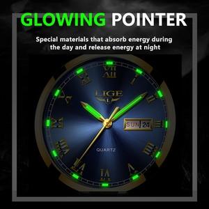 Image 4 - LIGE Watch Men Fashion Sports Quartz Full Steel Gold Business Mens Watches Top Brand Luxury Waterproof Watch Relogio Masculino