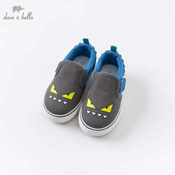DB14711 Dave Bella autumn baby boys fashion cartoon canvas shoes new born boy casual shoes image