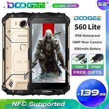 Doogee s60 lite ip68 impermeável robusto telefone mt6750t octa núcleo 4gb ram + 32gb rom android 7.0 5.2 Polegada nfc smartphone