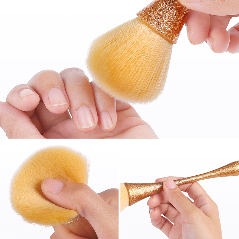 MEET ACROSS Nail Brush Gel Nail Dipping Cleaning Powder Dust Remove Scrubbing Nail Care Files Manicure Angle Clear Tools Manicur Силиконы