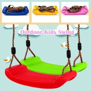 Children Fun Swing Outdoor Sport Toy Swings Plastic Garden Kids Hanging Seat Toys with Height Adjustable Ropes