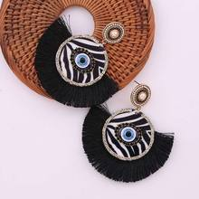 Bohemian Tassel New Design Oorbellen Voor Vrouwen Ladies Eyes Earrings Jewelry Party Gifts High Quality Fashion Drop Earrings luxury mahogany wooden watch male nature wood quartz clock novel wrist watches man s cool fashion full wooden bamboo men gifts