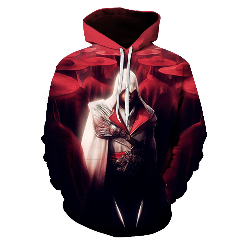 Autumn Hot Sale Sweatshirt Assassins Creed Pullover Game 3D Print Hoodies Clothing Streetwear Casual Pullover Oversized Hoodie