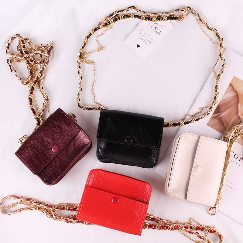 Mini Packet Chain Belt Bag Fashion Woman Single Shoulder Bag Inclined Shoulder Bag Woman Waist Chain Belt Coin Purse