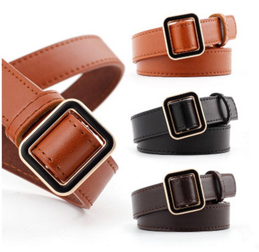 Hot seller buckle   belt   women gold dedicated   belt   jeans wild   belt   fashion student simple casual pants   belt   accessories